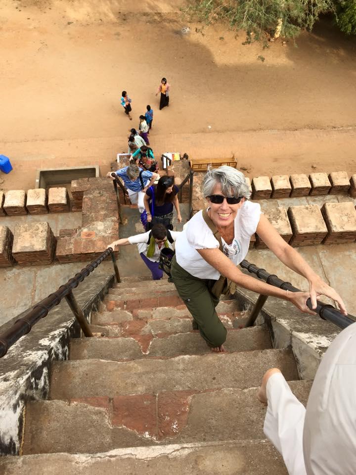 climbing Shwe Zedon