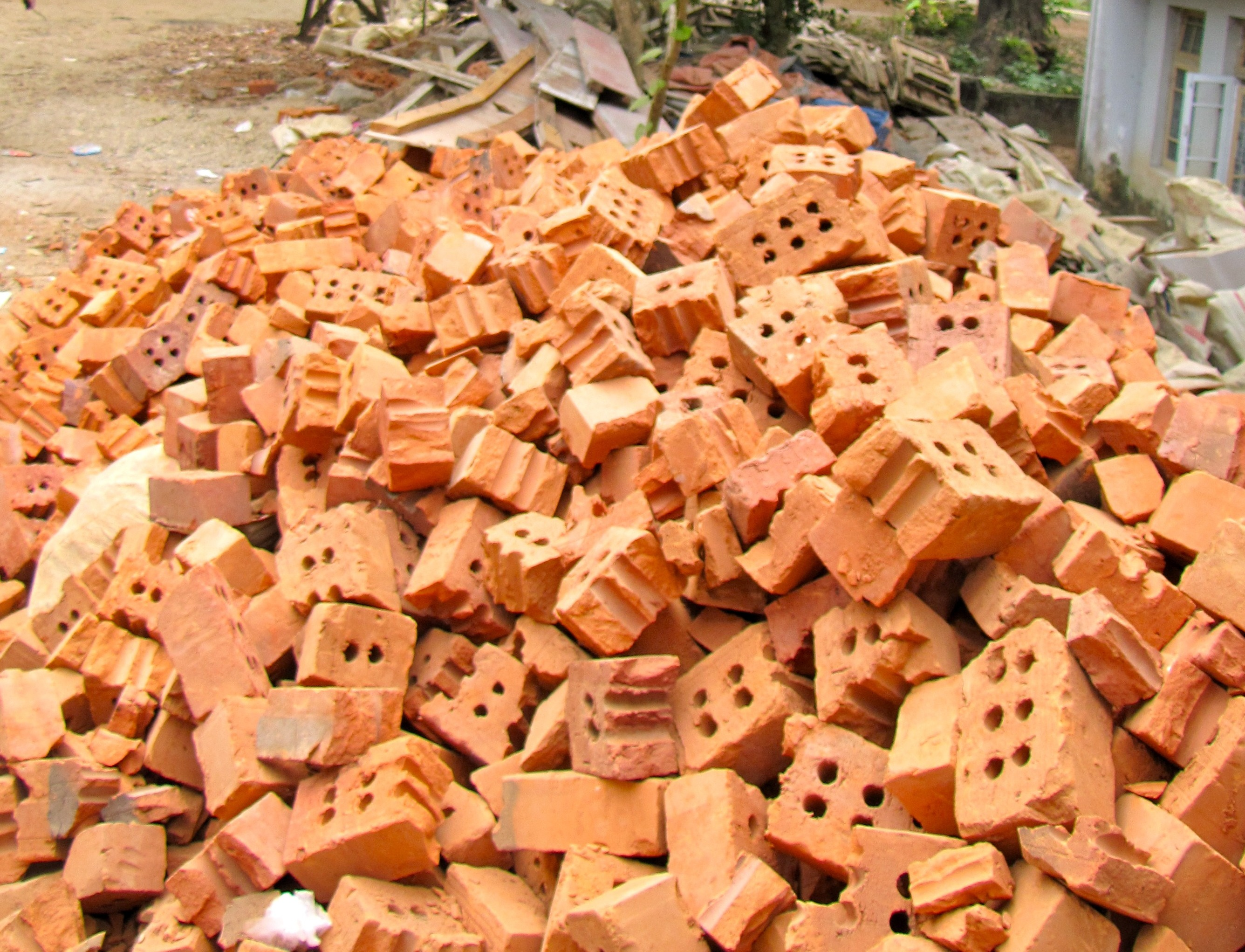 strewn bricks II