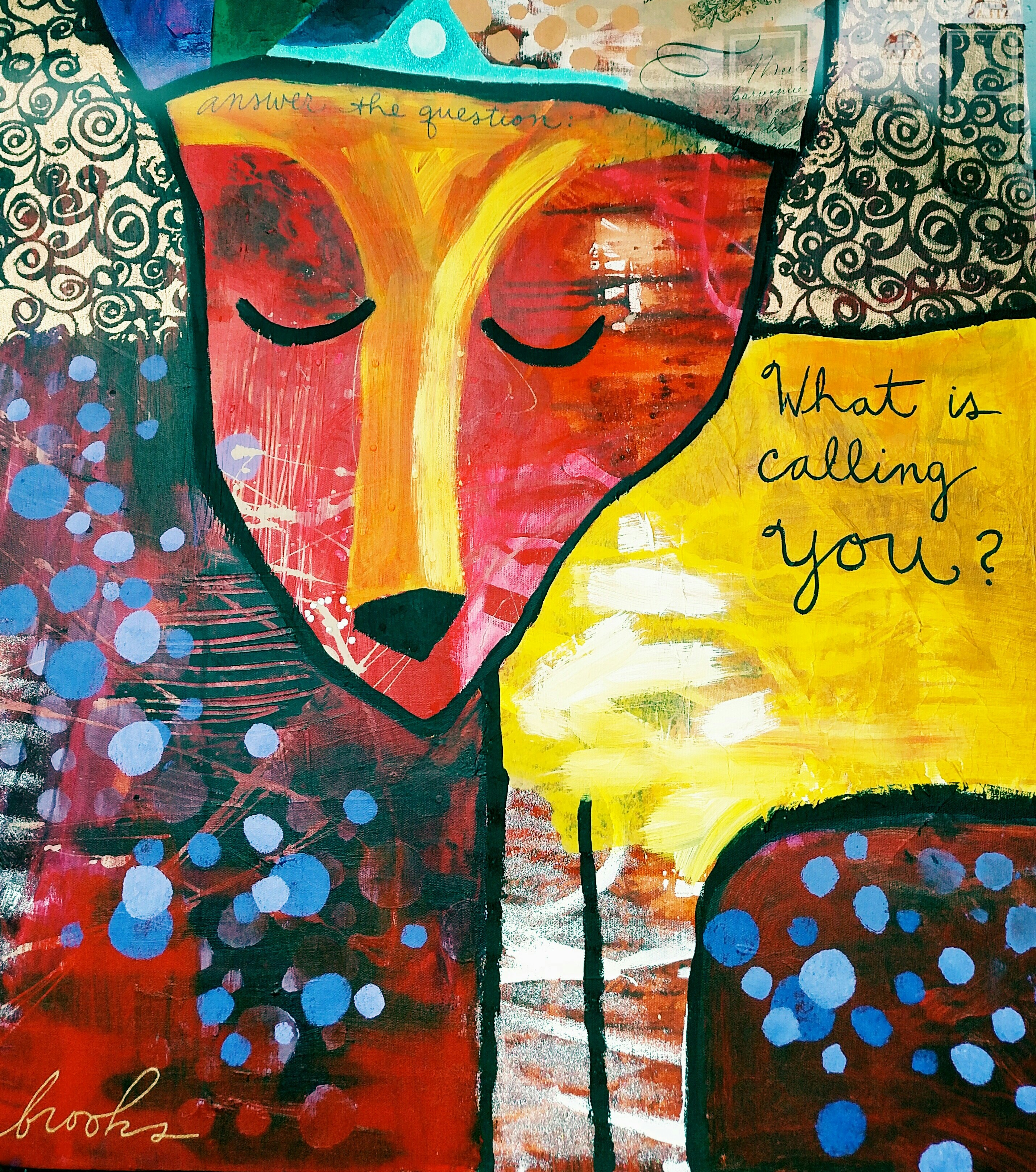 """""""What is calling you?"""" painting by Donna Estabrooks."""