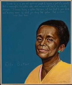 Portrait of Ella Baker by Paul Shetterly