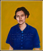 Portrait of Emma Tenayuca by Paul Shetterly