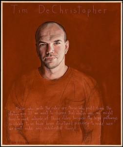 Portrait of Tim deChristopher by Paul Shetterly